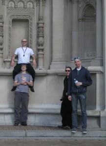 Front & crew defile the CFA facade